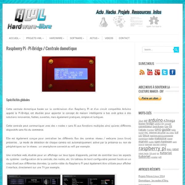 Raspberry Pi : Pi-Bridge / Centrale domotique