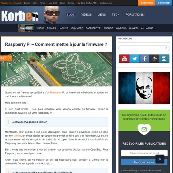 Raspberry Pi – Comment mettre à jour le firmware ?