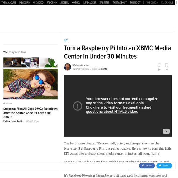Turn a Raspberry Pi Into an XBMC Media Center in Under 30 Minutes