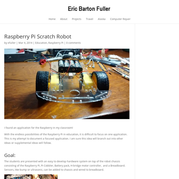 Raspberry Pi Scratch Robot