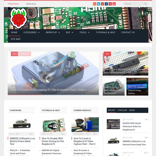 Raspberry Pi Spy — Unofficial Raspberry Pi tutorials, guides, scripts, help and news