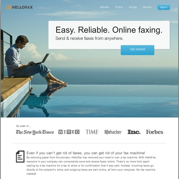 Sign, edit, and fax documents online