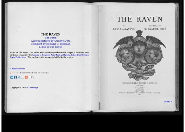 The Raven by Edgar Allan Poe Illustrated by Gustave Dor - StumbleUpon