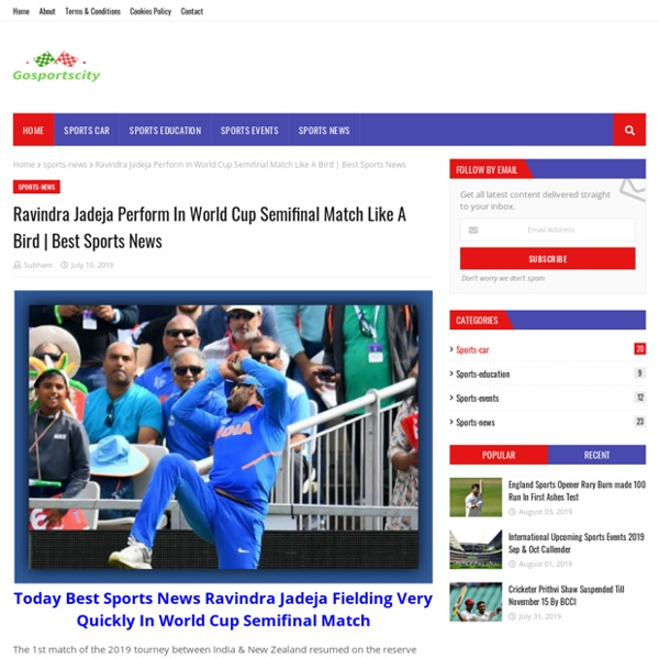 Ravindra Jadeja Perform In World Cup Semifinal Match Like A Bird
