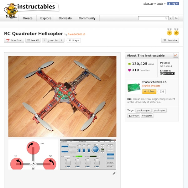 RC Quadrotor Helicopter  Instructables