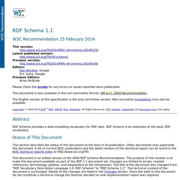 RDF Schema 1.1