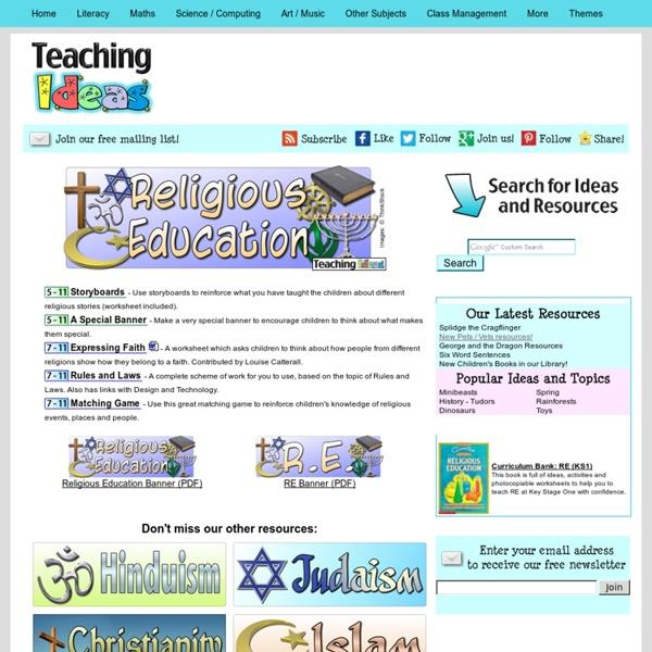RE - General Teaching Ideas