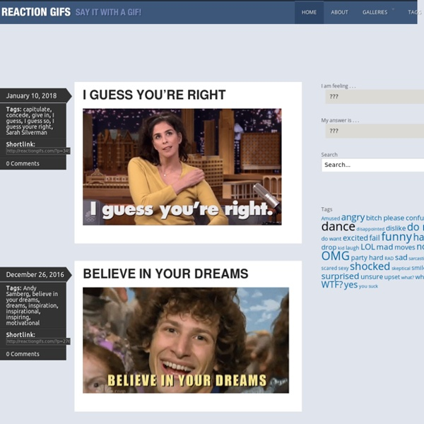 Reaction GIFs - Say it with a GIF!