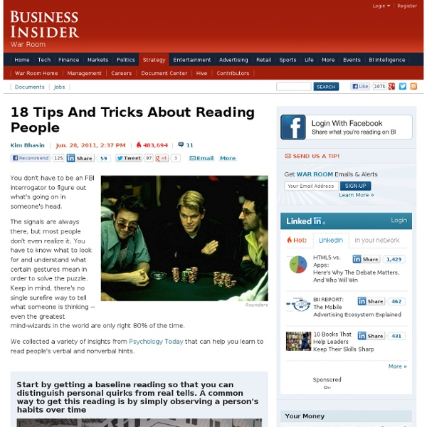 18 Tips And Tricks About Reading People