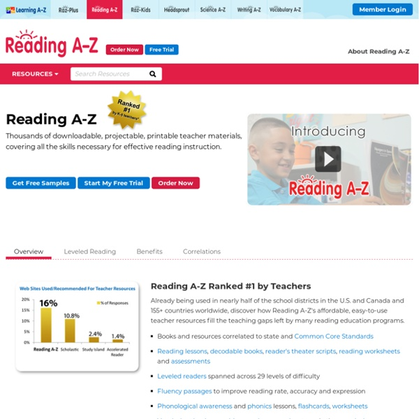 Reading A-Z: The online leveled reading program with downloadable books to print and assemble