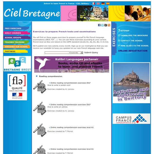 Reading and listening french exams online. DELF, TCF DILF, DALF