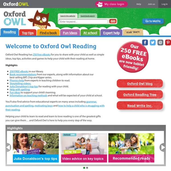 Help your child's reading with free tips & free ebooks