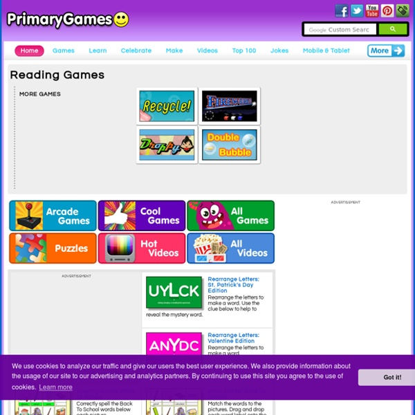 reading games primarygames play free online games