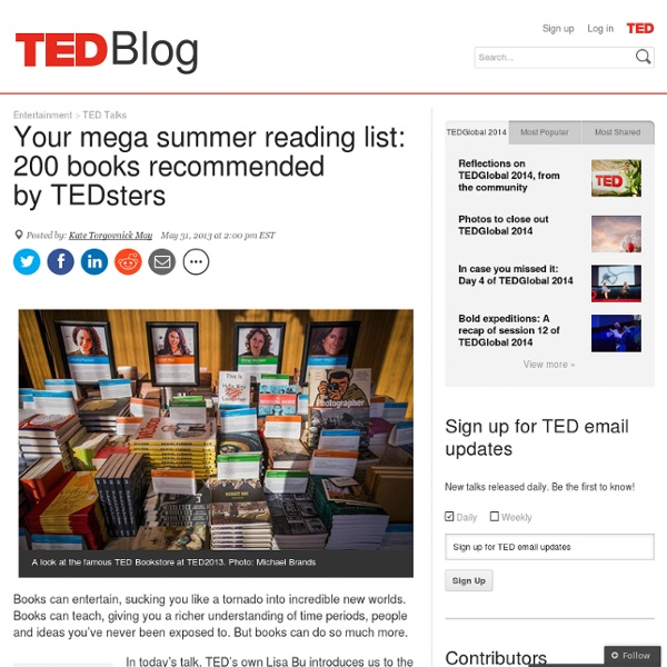 Your mega summer reading list: 200 books recommended by TEDsters