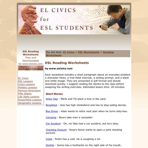 Printables Esl Civics Worksheets esl civics worksheets abitlikethis reading short stories free pearltrees