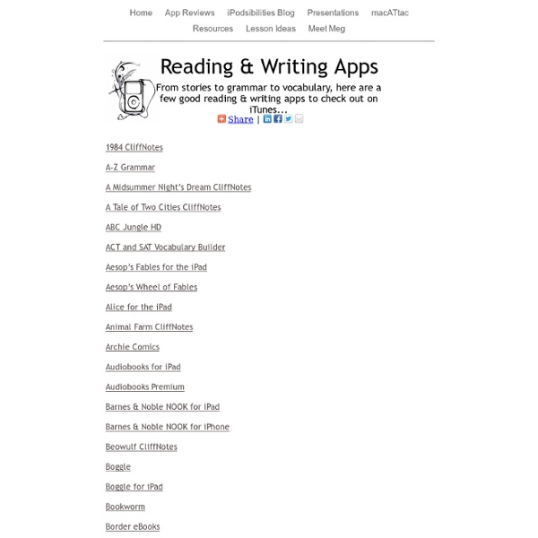 Reading & Writing Apps