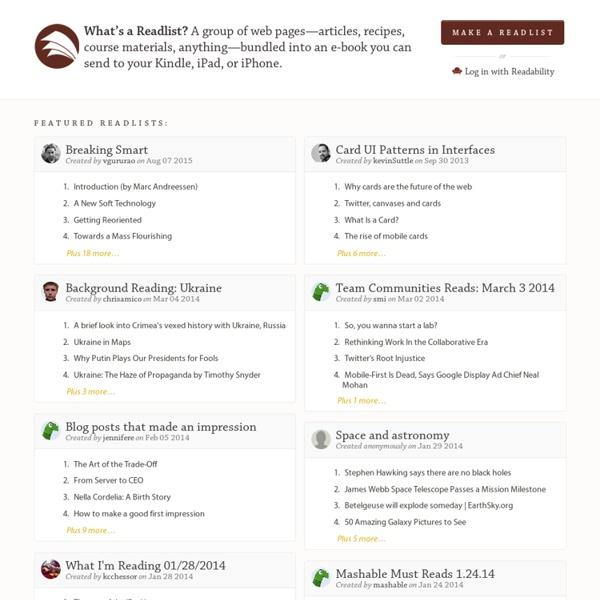 Readlists