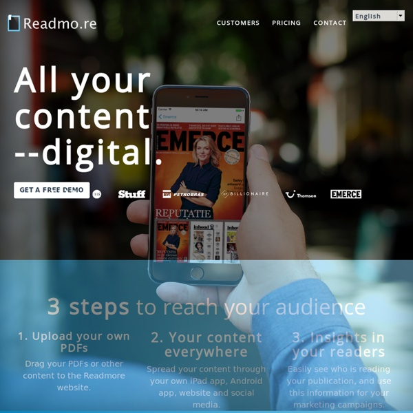 Readmore - Create your own magazine