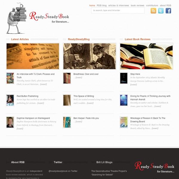 ReadySteadyBook - for literature...