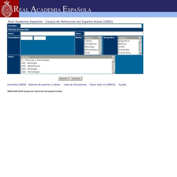 Real Academia Española - CREA