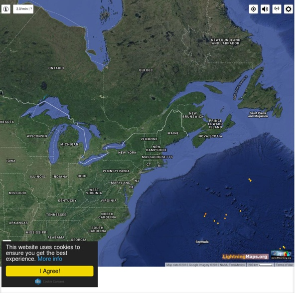 Real-Time Lightning Map