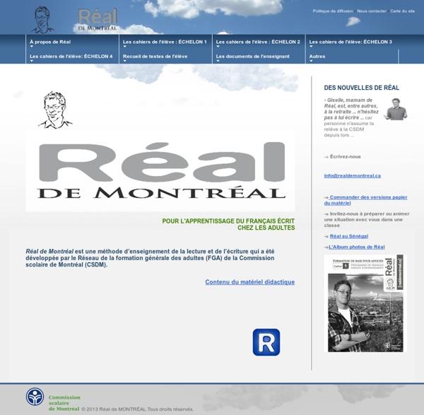 Réal de Montréal accueil