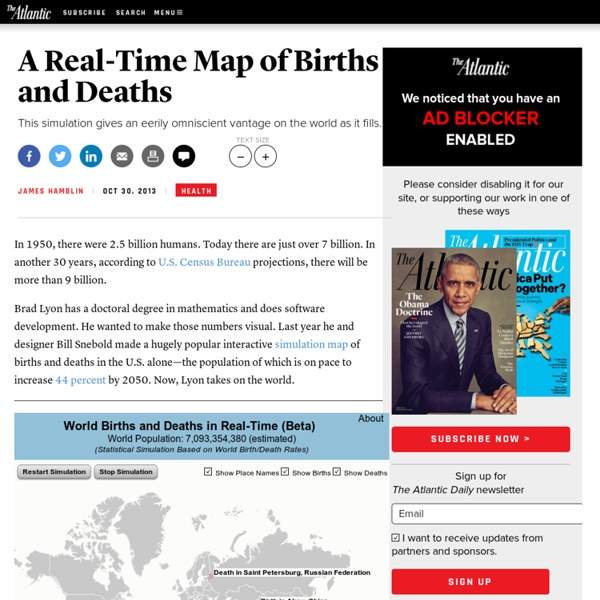 A Real-Time Map of Births and Deaths