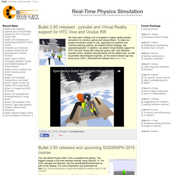 Game Physics Simulation