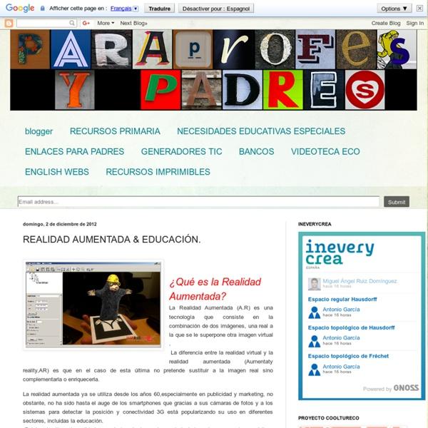 "REALIDAD AUMENTADA & EDUCACIÃ""N."
