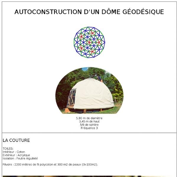 Réalisation en auto construction d'un dôme géodésique