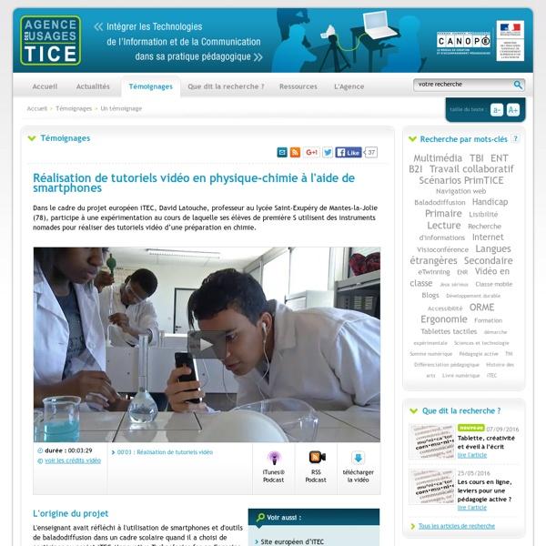 Réalisation de tutoriels vidéo en #physique-chimie à l'aide de smartphones en #lycée