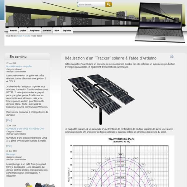 """Réalisation d'un """"Tracker"""" solaire à l'aide d'Arduino"""