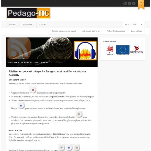 Réaliser un podcast : étape 3 – Enregistrer et modifier sa voix sur Audacity