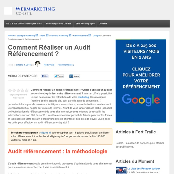Comment réaliser un audit référencement ?