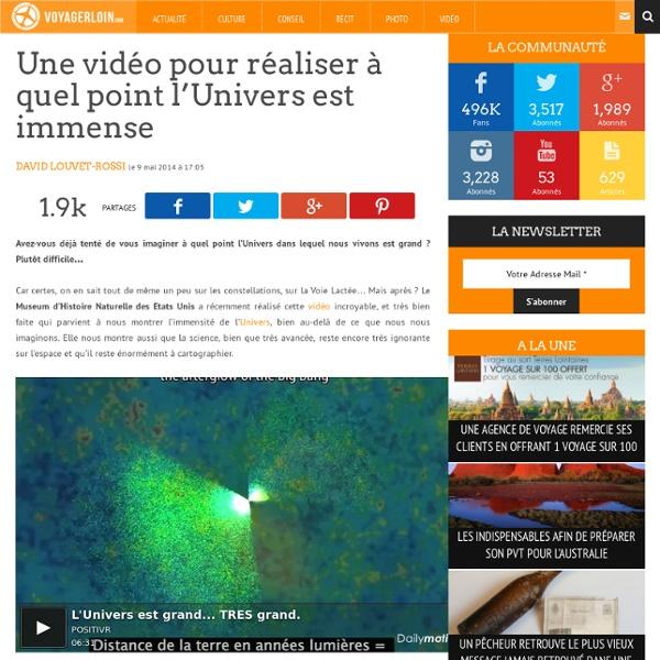 Une vidéo pour réaliser à quel point l'Univers est immense