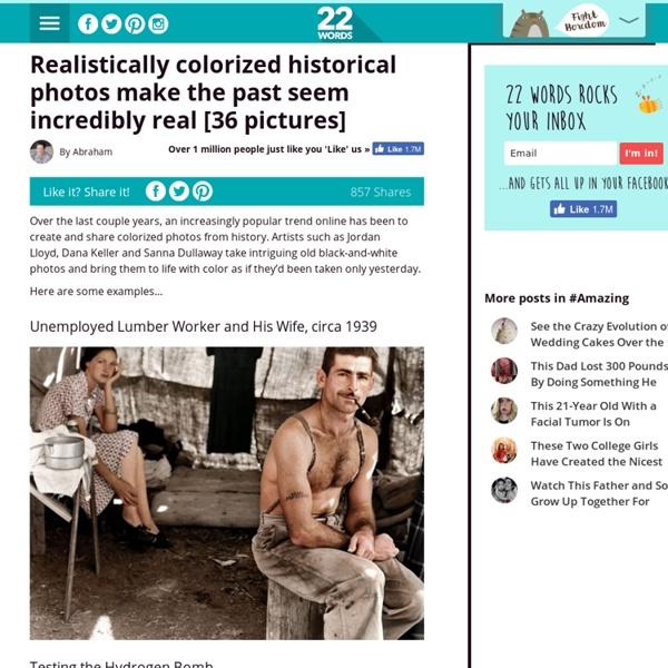 Realistically colorized historical photos