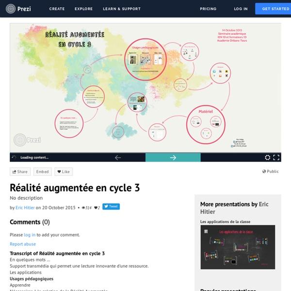 Réalité augmentée en cycle 3 by Eric Hitier on Prezi