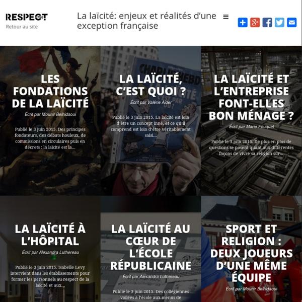 La laïcité: enjeux et réalités d'une exception française « La laïcité: enjeux et réalités d'une exception française