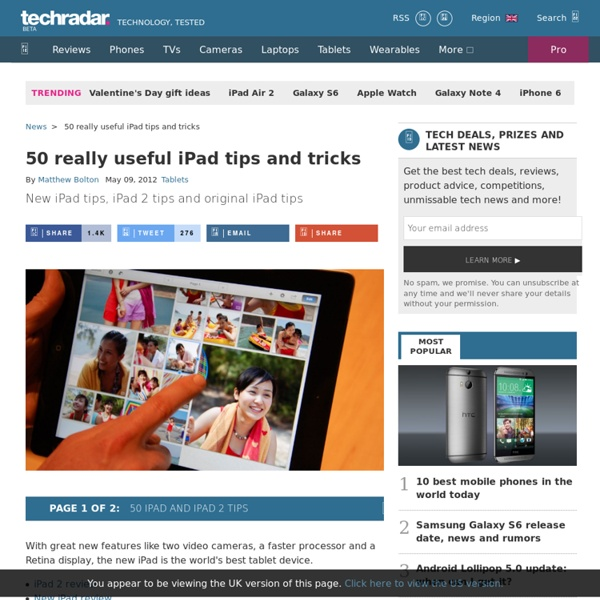 50 really useful iPad tips and tricks