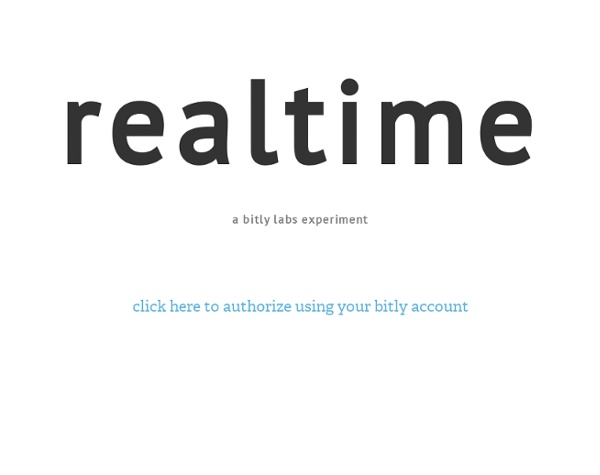 Realtime - a bitly labs experiment