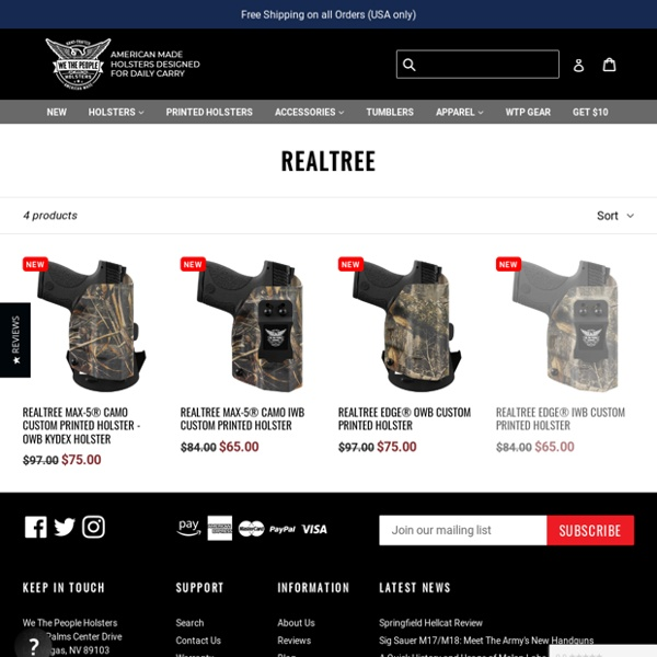 Realtree Camouflage Holsters by We The People Holsters