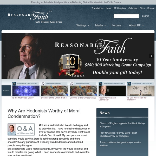 ReasonableFaith.org – Defend Biblical Christianity, Apologetics, Bible Questions