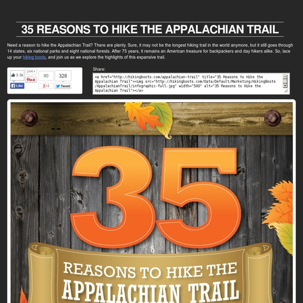 35 Reasons to Hike the Appalachian Trail