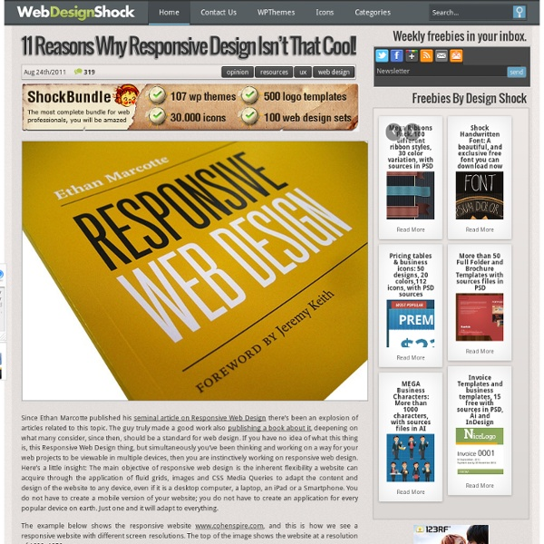 11 Reasons why responsive web design isn't that cool!