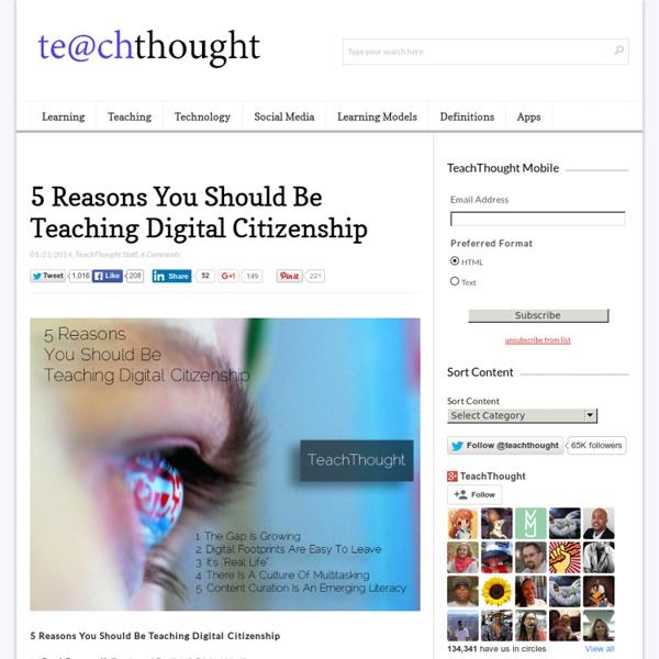 5 Reasons You Should Be Teaching Digital Citizenship