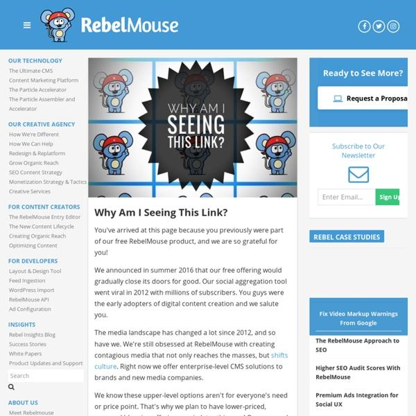 RebelMouse: Let Your Content Roar