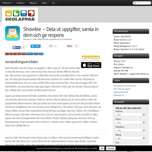 Recension av Showbie - Dela ut uppgifter, samla in dem och ge respons