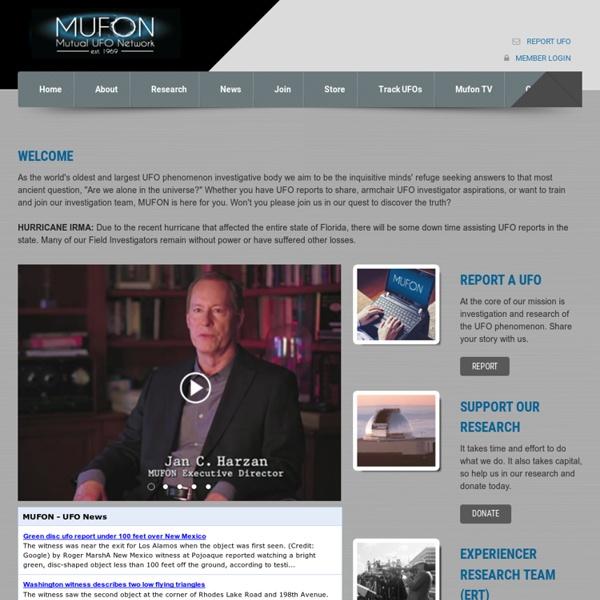 Welcome to MUFON - HOME