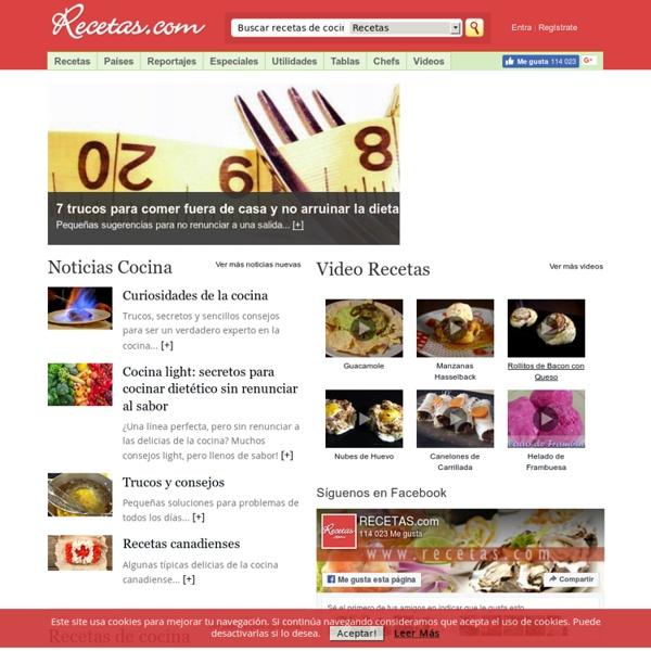 Recetas de cocina, recetas de comida en recetas.com