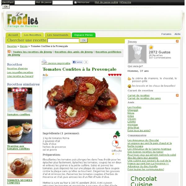 Tomates confites à la provencale
